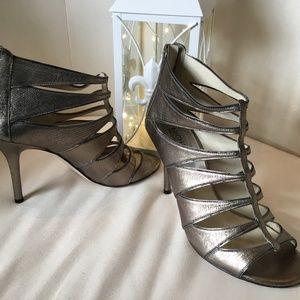 Michael Kors Metallic High Heel Gladiator Size 9